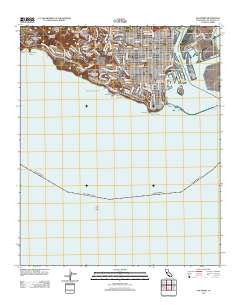 San Pedro California Historical topographic map, 1:24000 scale, 7.5 X 7.5 Minute, Year 2012