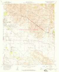 Seven Palms Valley California Historical topographic map, 1:24000 scale, 7.5 X 7.5 Minute, Year 1958