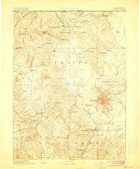 Shasta California Historical topographic map, 1:250000 scale, 1 X 1 Degree, Year 1894