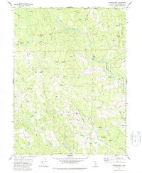 Showers Mtn California Historical topographic map, 1:24000 scale, 7.5 X 7.5 Minute, Year 1978
