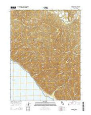 Shubrick Peak California Current topographic map, 1:24000 scale, 7.5 X 7.5 Minute, Year 2015 from California Maps Store