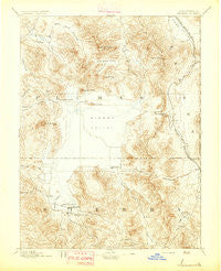 Sierraville California Historical topographic map, 1:125000 scale, 30 X 30 Minute, Year 1894
