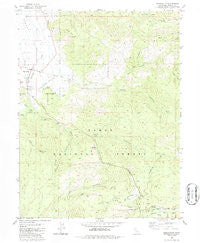 Sierraville California Historical topographic map, 1:24000 scale, 7.5 X 7.5 Minute, Year 1981