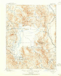 Sierraville California Historical topographic map, 1:125000 scale, 30 X 30 Minute, Year 1890