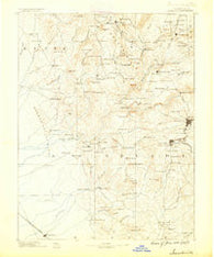 Smartsville California Historical topographic map, 1:125000 scale, 30 X 30 Minute, Year 1888