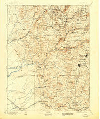 Smartsville California Historical topographic map, 1:125000 scale, 30 X 30 Minute, Year 1895