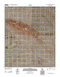 Superstition Mountain California Historical topographic map, 1:24000 scale, 7.5 X 7.5 Minute, Year 2012