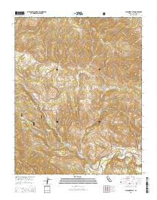 Sycamore Flat California Current topographic map, 1:24000 scale, 7.5 X 7.5 Minute, Year 2015