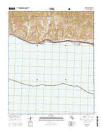 Tajiguas California Current topographic map, 1:24000 scale, 7.5 X 7.5 Minute, Year 2015 from California Map Store