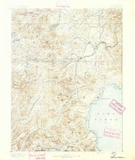 Truckee California Historical topographic map, 1:125000 scale, 30 X 30 Minute, Year 1891