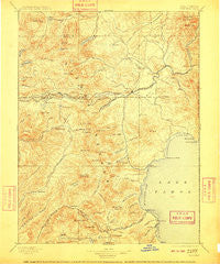 Truckee California Historical topographic map, 1:125000 scale, 30 X 30 Minute, Year 1895
