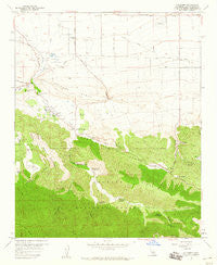 Valyermo California Historical topographic map, 1:24000 scale, 7.5 X 7.5 Minute, Year 1958