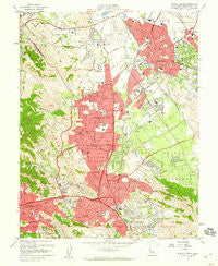 Walnut Creek California Historical topographic map, 1:24000 scale, 7.5 X 7.5 Minute, Year 1959