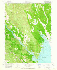 Walter Springs California Historical topographic map, 1:24000 scale, 7.5 X 7.5 Minute, Year 1959
