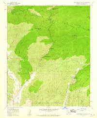 Warm Springs Mountain California Historical topographic map, 1:24000 scale, 7.5 X 7.5 Minute, Year 1958