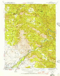 Watts Valley California Historical topographic map, 1:62500 scale, 15 X 15 Minute, Year 1942