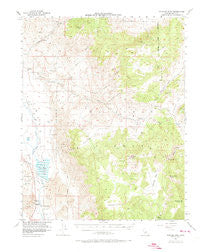 Waucoba Mtn California Historical topographic map, 1:62500 scale, 15 X 15 Minute, Year 1958