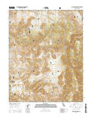 Waucoba Mountain California Current topographic map, 1:24000 scale, 7.5 X 7.5 Minute, Year 2015 from California Maps Store