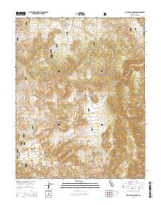Waucoba Mountain California Current topographic map, 1:24000 scale, 7.5 X 7.5 Minute, Year 2015