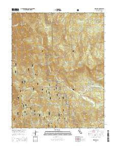 Wawona California Current topographic map, 1:24000 scale, 7.5 X 7.5 Minute, Year 2015