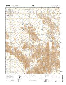 West Ord Mountain California Current topographic map, 1:24000 scale, 7.5 X 7.5 Minute, Year 2015
