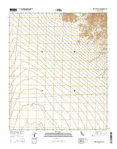 West of Palen Pass California Current topographic map, 1:24000 scale, 7.5 X 7.5 Minute, Year 2015