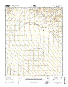 West of Palo Verde Peak California Current topographic map, 1:24000 scale, 7.5 X 7.5 Minute, Year 2015