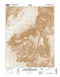 West of Teakettle Junction California Current topographic map, 1:24000 scale, 7.5 X 7.5 Minute, Year 2015
