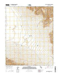 West of Ubehebe Peak California Current topographic map, 1:24000 scale, 7.5 X 7.5 Minute, Year 2015