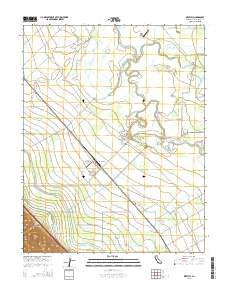 Westley California Current topographic map, 1:24000 scale, 7.5 X 7.5 Minute, Year 2015