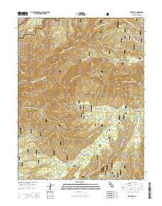 Westville California Current topographic map, 1:24000 scale, 7.5 X 7.5 Minute, Year 2015