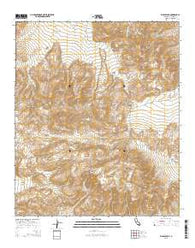 Whale Peak California Current topographic map, 1:24000 scale, 7.5 X 7.5 Minute, Year 2015