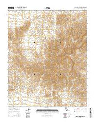 Whipple Mountains SW California Current topographic map, 1:24000 scale, 7.5 X 7.5 Minute, Year 2015