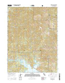 Whiskeytown California Current topographic map, 1:24000 scale, 7.5 X 7.5 Minute, Year 2015