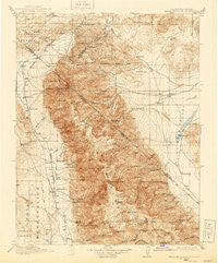 White Mountain California Historical topographic map, 1:125000 scale, 30 X 30 Minute, Year 1917