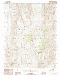 White Top Mtn California Historical topographic map, 1:24000 scale, 7.5 X 7.5 Minute, Year 1988