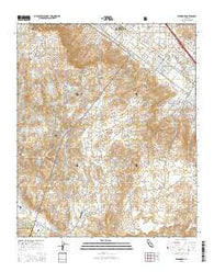 Wildomar California Current topographic map, 1:24000 scale, 7.5 X 7.5 Minute, Year 2015