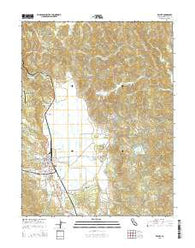 Willits California Current topographic map, 1:24000 scale, 7.5 X 7.5 Minute, Year 2015