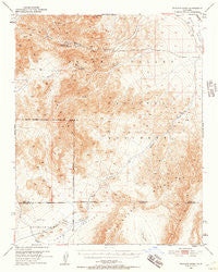 Wingate Wash California Historical topographic map, 1:62500 scale, 15 X 15 Minute, Year 1950
