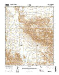 Wingate Pass California Current topographic map, 1:24000 scale, 7.5 X 7.5 Minute, Year 2015
