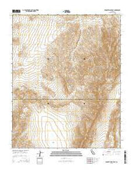 Wingate Wash East California Current topographic map, 1:24000 scale, 7.5 X 7.5 Minute, Year 2015