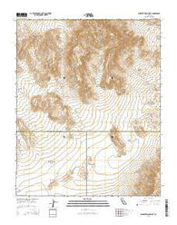 Wingate Wash West California Current topographic map, 1:24000 scale, 7.5 X 7.5 Minute, Year 2015