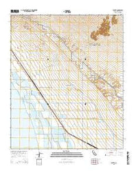 Wister California Current topographic map, 1:24000 scale, 7.5 X 7.5 Minute, Year 2015