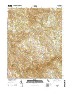 Wolf California Current topographic map, 1:24000 scale, 7.5 X 7.5 Minute, Year 2015