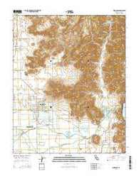 Woodlake California Current topographic map, 1:24000 scale, 7.5 X 7.5 Minute, Year 2015