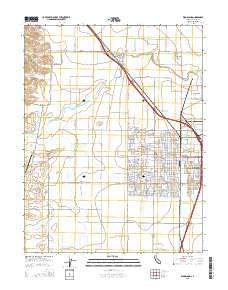 Woodland California Current topographic map, 1:24000 scale, 7.5 X 7.5 Minute, Year 2015