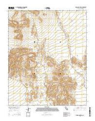 Woods Mountains California Current topographic map, 1:24000 scale, 7.5 X 7.5 Minute, Year 2015