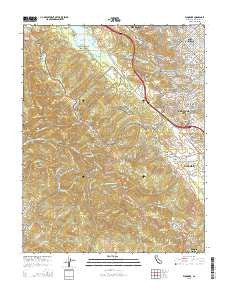 Woodside California Current topographic map, 1:24000 scale, 7.5 X 7.5 Minute, Year 2015
