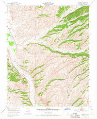 Wunpost California Historical topographic map, 1:24000 scale, 7.5 X 7.5 Minute, Year 1949
