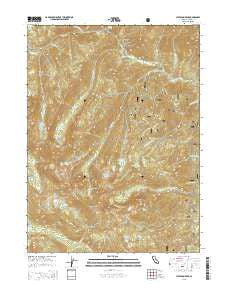 Ycatapom Peak California Current topographic map, 1:24000 scale, 7.5 X 7.5 Minute, Year 2015